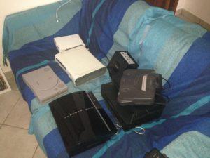 Console sul divano