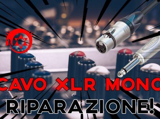 Riparazione cavo audio XLR Jack 6.3mm Mono